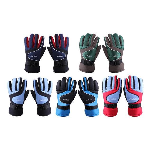 Зимние теплые ветрозащитные лыжные перчатки для спорта на открытом воздухе удобные мужские женские сноубордические перчатки на открытом воздухе лыжные перчатки