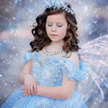 Cheap Snow Queen ELSA Lovely Kids Princess Party Dress Girls Anna Cosplay Costumes for Christmas Halloween Dropshipping