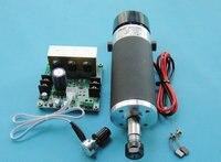 ER11 DC48V 500W spindle motor + Mach3 governor external brush high-speed air-cooled spindle motor PCB spindle