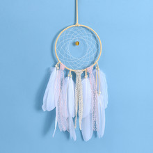Girl Heart Dreamcatcher Feather Ornaments Home Decor Wall Decorations Handmade Crafts Backyard decoration wind chimes