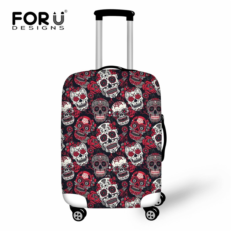 FORUDESIGNS Classic Sugar Skulls Print Luggage Protective Cover Trolley Suitcase Elastic Dust Bags Case Travel Accessories