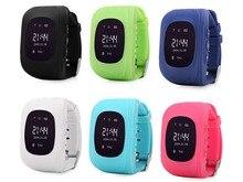 Q50 GPS 트래커 시계 어린이 스마트 워치 SOS 전화 안티 분실 팔찌 팔찌 어린이 웨어러블 장치 OLED GPS 위치 추적기