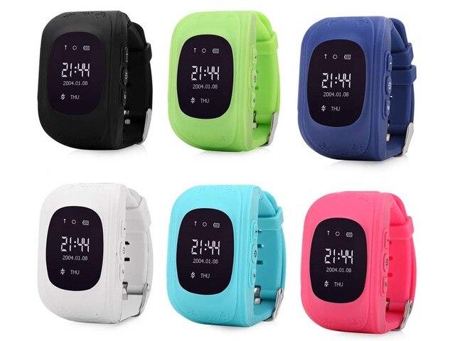Q50 لتحديد المواقع ساعة تعقب الاطفال ساعة ذكية SOS دعوة مكافحة خسر سوار معصمه الأطفال يمكن ارتداؤها الأجهزة OLED لتحديد المواقع المقتفي