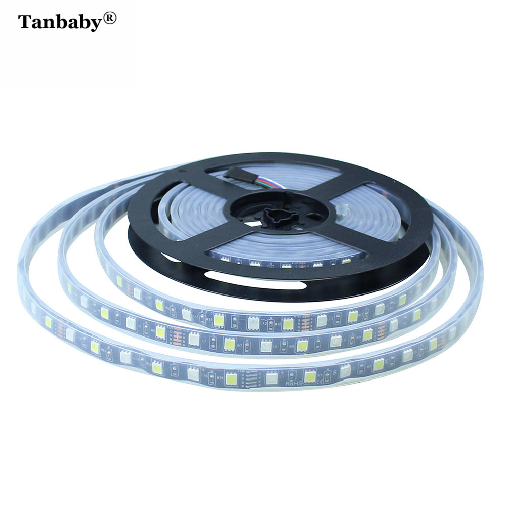 Outdoor Rgbw Led Strip Lights: Tanbaby 5M/Roll RGBW RGBWW LED Strip Light SMD5050 Black
