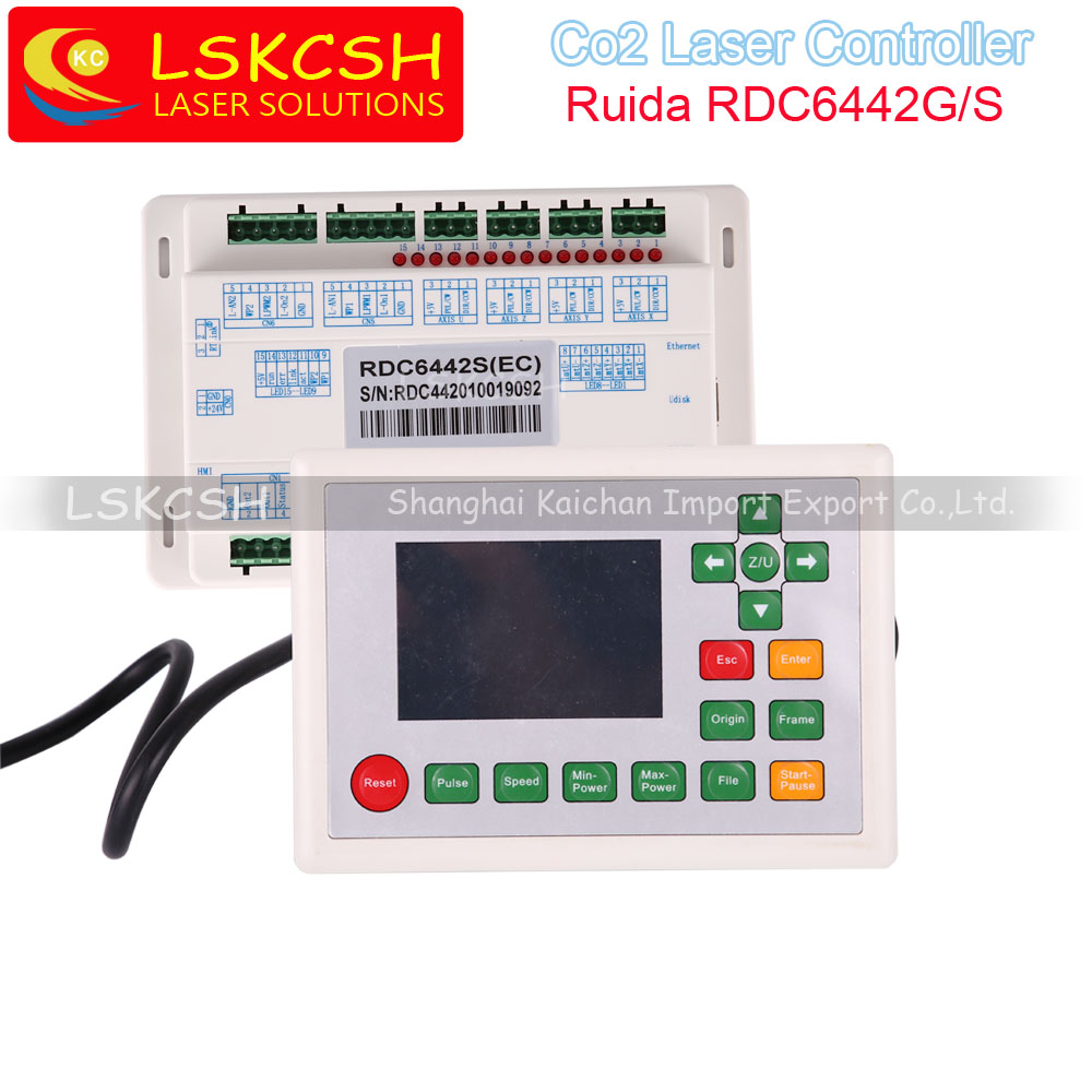 Ruida RDC6442S RDC6442G Co2 Laser DSP Controller for Co2 Laser Engraving and Cutting Machine Professional laser parts supplier co2 laser machine laser path size 1200 600mm 1200 800mm
