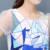 2017 Verão O-pescoço Chiffon de Manga Curta Moda Geométrica Impressão Mulheres Tops e Perna Larga Shorts Set 2 Peça Set Mulheres Conjuntos Casuais