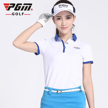 2016 Newest PGM Summer POLO Women Short Shirt Ladies Golf Clothing Shirts Coat Quick Dry Sport Tshirt Breathble Female Clothes