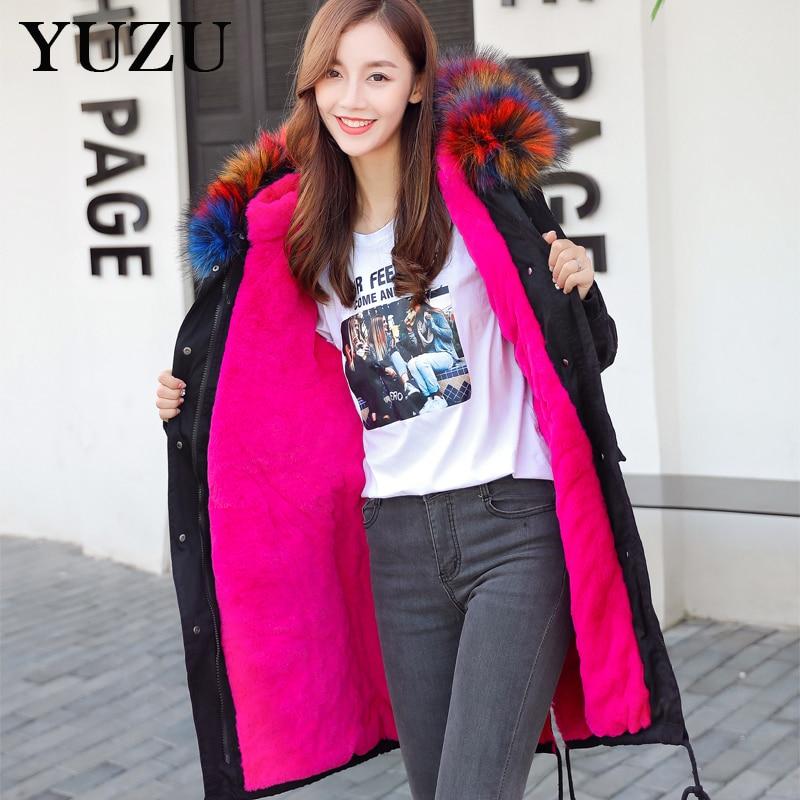 Winter Long Coat Women Pink Hood Fur Jacket Plus Size 4XL Long Sleeve Thicker Warm Parka Zippers Adjustable Waist Fashion Coat women lady thicken warm winter coat hood parka overcoat long outwear jacket