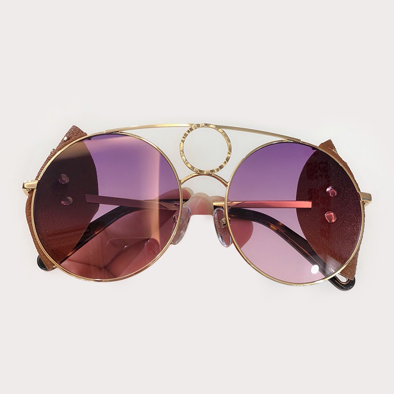Fashion Round Sunglasses Women Brand Designer 2019 High Quality Retro Sunglasses Female Metal Frame Sun Glasses For Women