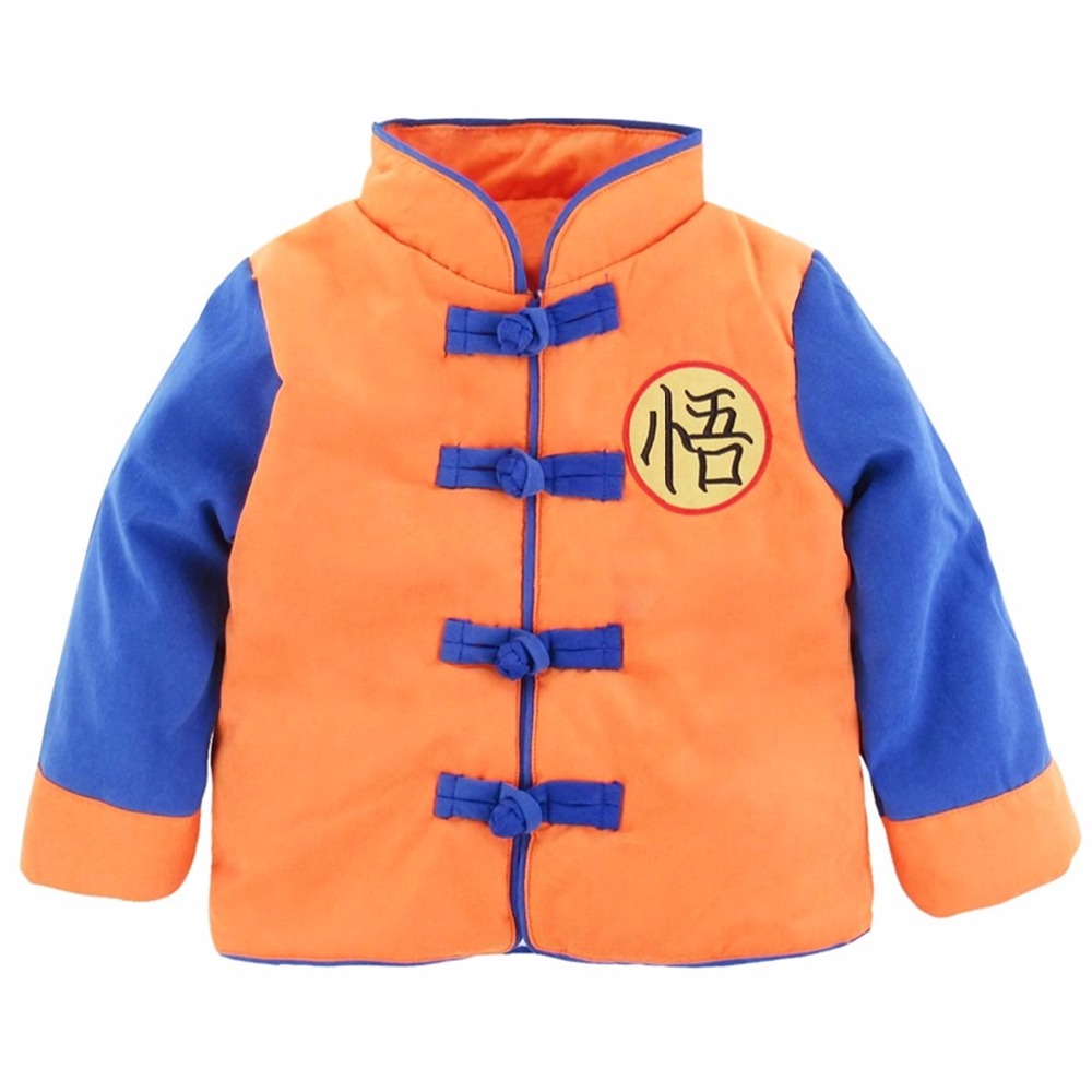 Baby Boys Girls Winter Goku Costume Coat Warm Baby Jacket Long Sleeve Infant Toddler Halloween Outwear New Year Costume For Boy sherlock holmes men winter long cape coat halloween cosplay costume custom made wool version