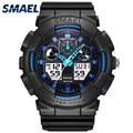 SMAEL מותג דיגיטלי שעון אור S הלם גברים שעון עמיד למים 50m LED שעון כחול גברים שעונים ספורט 1027 relogio masculino 2017|masculinos relogios|masculino watchrelogio masculino s shock -