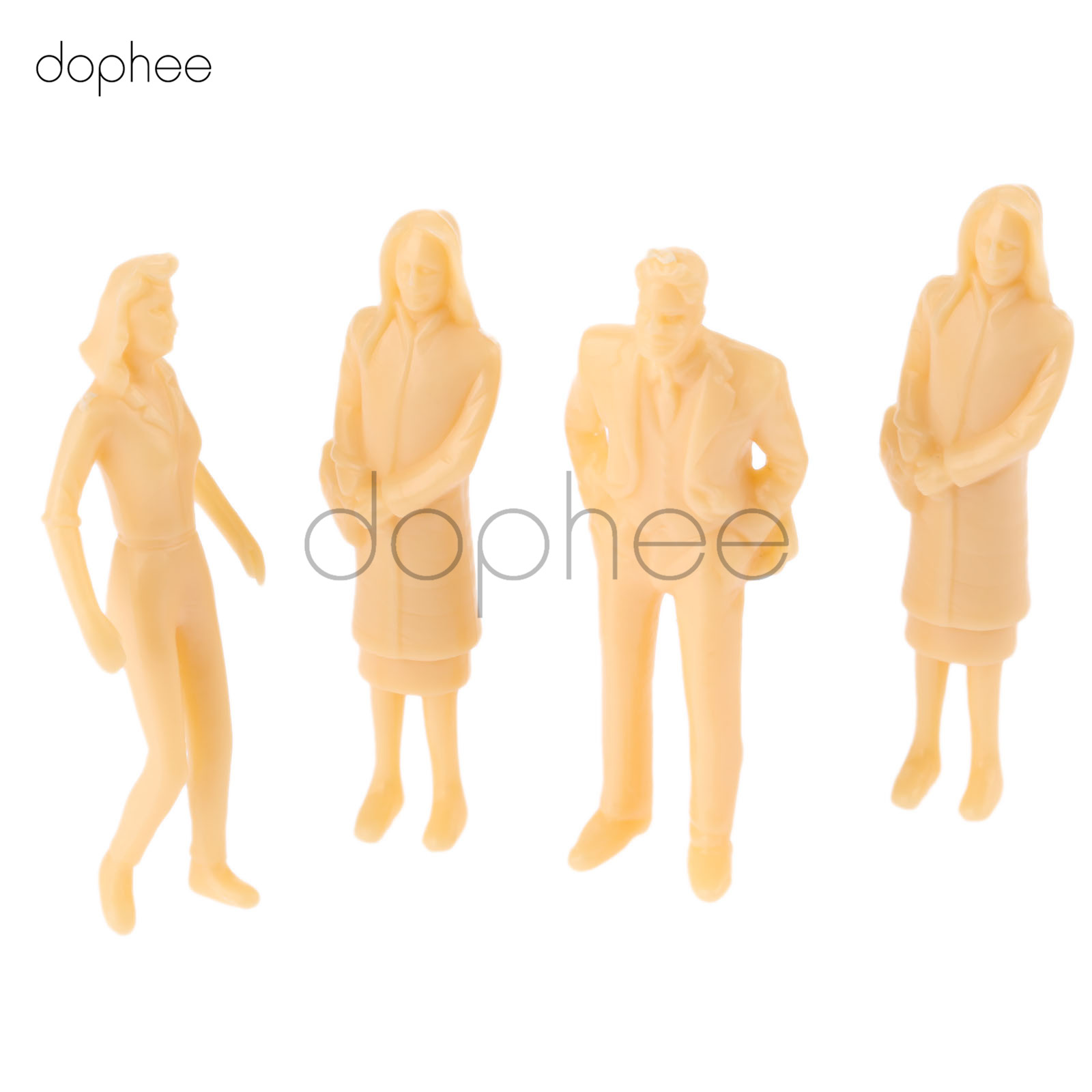 dophee 20pcs miniature Skin color Model People figures Architectural scale HO 1:30 1:42 1:50 ABS plastic peoples 65mm 40mm 36mm