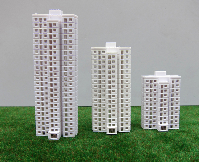 house building models 1 500 scale construction tall buildings for