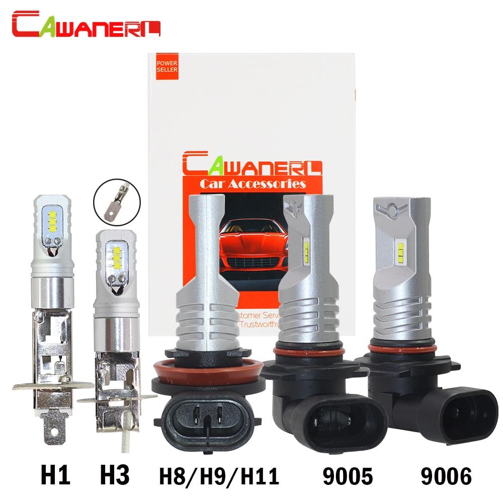 Cawanerl 80 W 3200LM Par Set Voiture LED Brouillard Ampoule DRL Feux de jour lampe H1 H8 H9 H11 9005 HB3 9006 HB4 CSP 6000 K Blanc 12 V