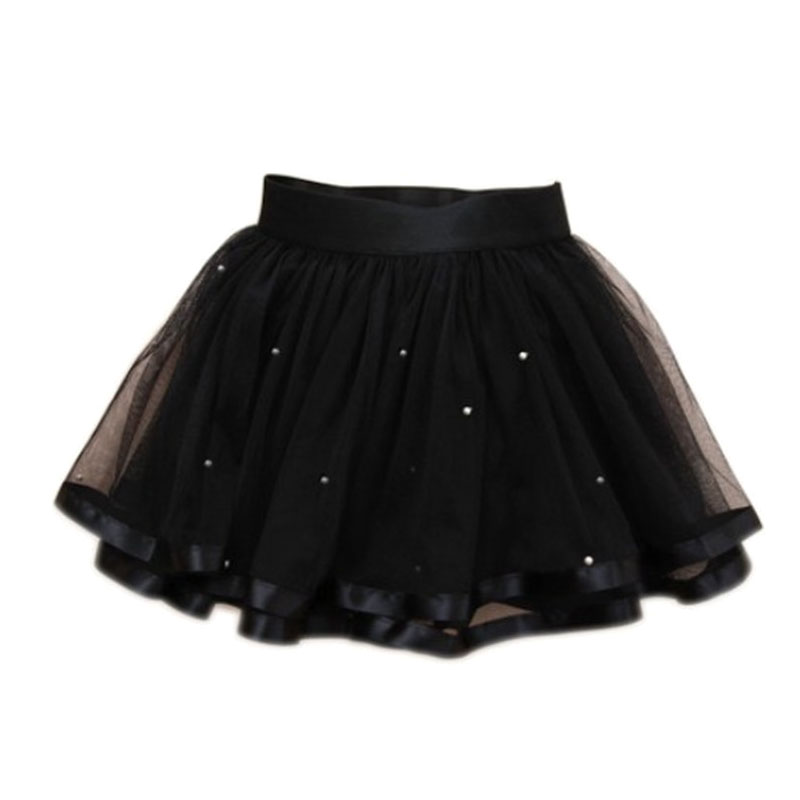 Black Fluffy Full Newborn Baby Pettiskirt Photo Shoot Prop 0-6 Months Bright Luster Girls' Clothing (newborn-5t)
