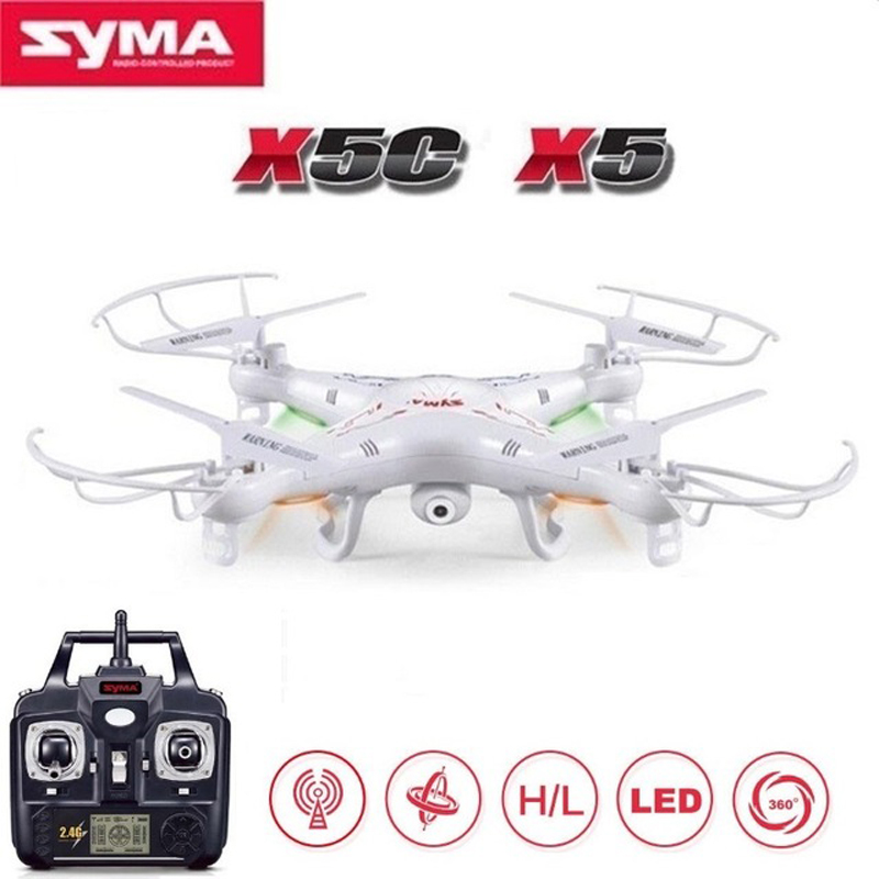 Original SYMA X5C RC Drone With 2MP HD Camera 2.4G 6-Axis Remote Control Helicopter Quadcopter or SYMA X5 Dron Without Camera syma x5c drone 4ch 6 axis remote control quadcopter with 2mp hd camera rc helicopter dron toys for children