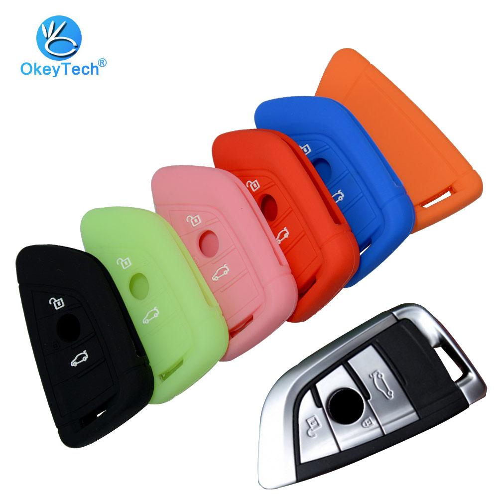OkeyTech 3 Button Car Key Case Key Cover Shell For BMW X5 F15 X6 F16 G30 7 1 2 5 Series G11 X1 X5 F48 218i Auto Key Protect Skin