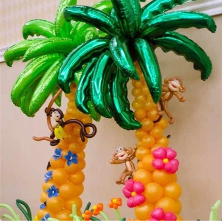 10 pcs 36 inch kelapa pohon daun Foil balon Birthday Party Wedding Room Decor Palm daun Aluminium globos Upacara Pembukaan