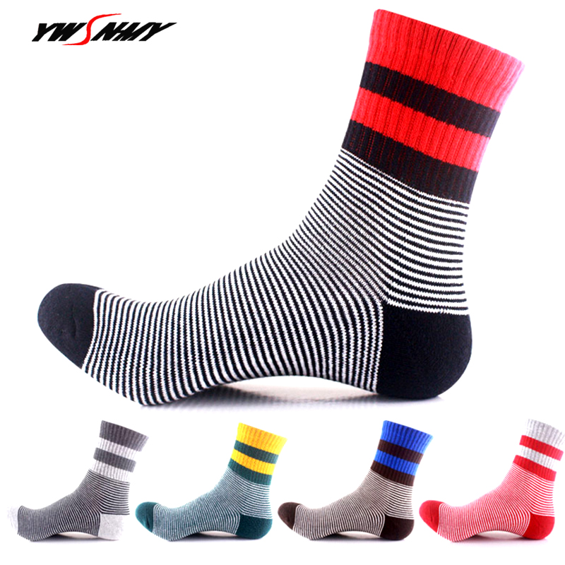 5Pairs Mens Women High Quality Sock Men stripe Thicken Towel Bottom Cotton Short Sox Mountain Trekking Bicycle Non-slip Sock