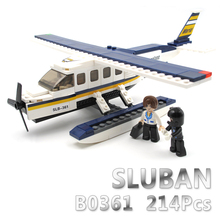 Sluban Model Building Compatible lego Lego B0361 214pcs Model Building Kits Classic Toys Hobbies aircraft airplane
