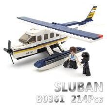 Modelo de Construção Compatível Com lego Lego Sluban B0361 214 pcs Kits de Construção do Modelo Clássico Brinquedos Hobbies aeronaves avião Coleção