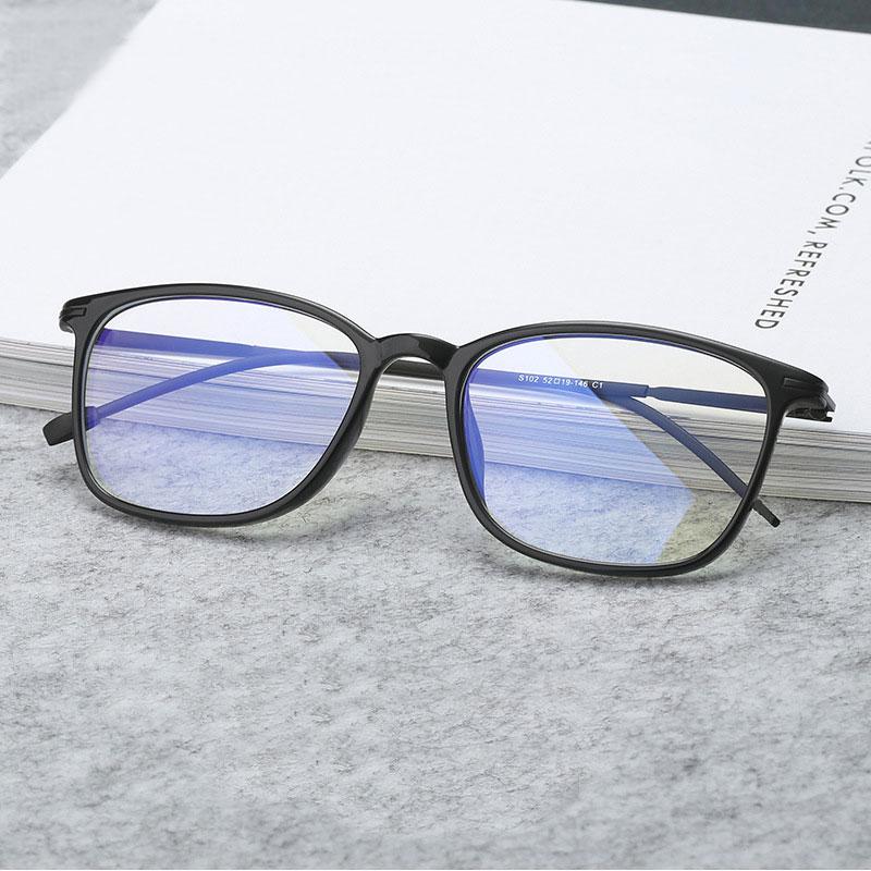 Anti Blue Ray Light Blocking Filter Reduces Digital Eye Strain Clear Regular Computer Gaming Glasses Improve Comfort CHS102