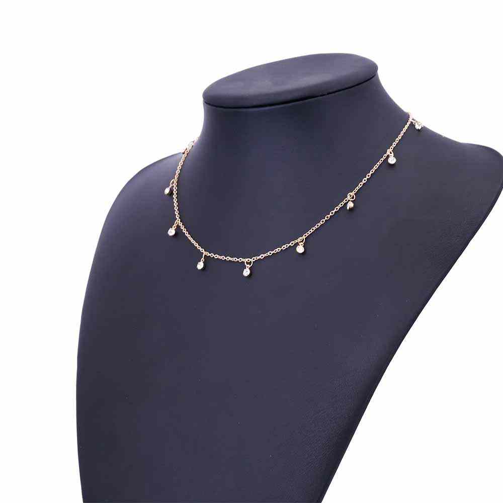 FAMSHIN 2017 Summer Sexy Necklace Drops CZ Necklace For Women Charm Choker Necklace For Women Gift