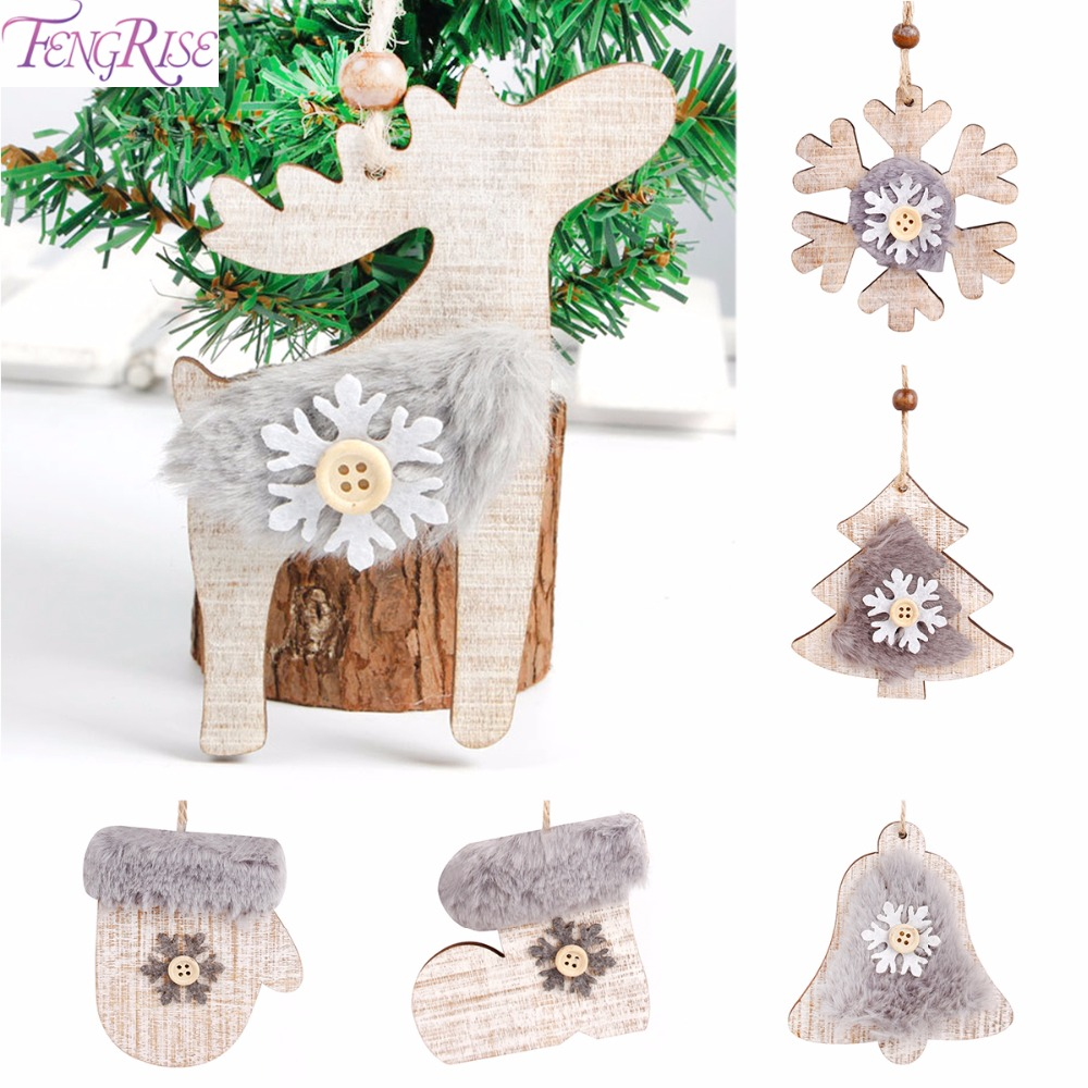 fengrise wooden christmas embellishments christmas tree pendant rustic xmas tree decorations diy hanging ornament navidad natale in pendant drop ornaments - Wooden Christmas Decorations To Make