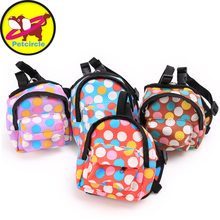 2017 Petcircle New Arrival Cute Multicolor dot Dog Backpacks Convenient Durable Pet Dog bags Size S-L Dog carriers Free Shipping