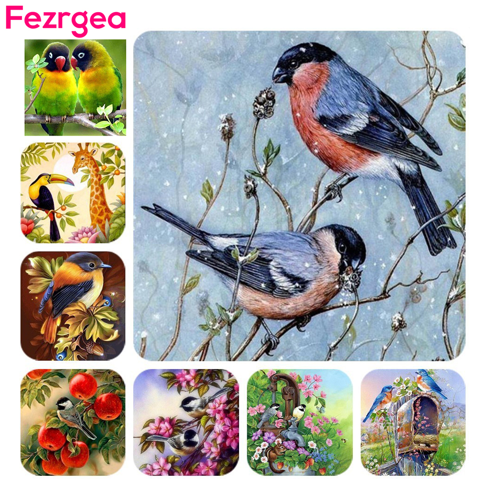 HUACAN-Diamond-Embroidery-Animals-5D-DIY-Diamond-Painting-Birds-Cross-Stitch-Picture-Of-Rhinestone-Paint-With