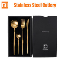 Xiaomi mijia Stainless steel cutlery Fork Knife Spoon ins dinner steak dessert soup butter serving knife spoon fork for home(China)