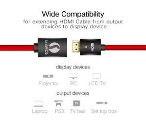 Image 2 - HDMI 연장 케이블 V2.0 0.5M 1M 1.5M 2M 3M 남성 여성 Extender HDMI 케이블 골드 도금 금속 SHELL1080P 3D