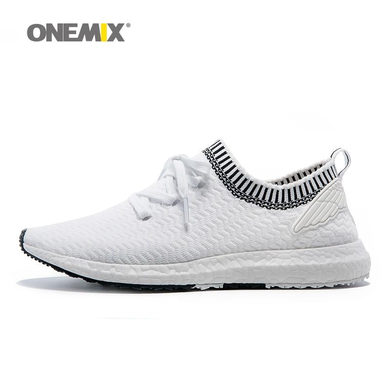 a23a556cec3a9 ONEMIX رجل الاحذية للرجال جديد مصمم المدربين رياضي الأبيض Zapatillas  الرياضة الركض في الهواء الطلق سفر رياضة المشي