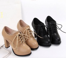Nice fashion spring and autumn women pumps single shoes platform high heels shoes thick heel lacing shoes princess fashion