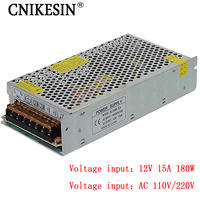 CNIKESIN 12V15A Switching Power Supply 12V Monitoring Camera Power Supply Centralized Power Supply LED Light Strip