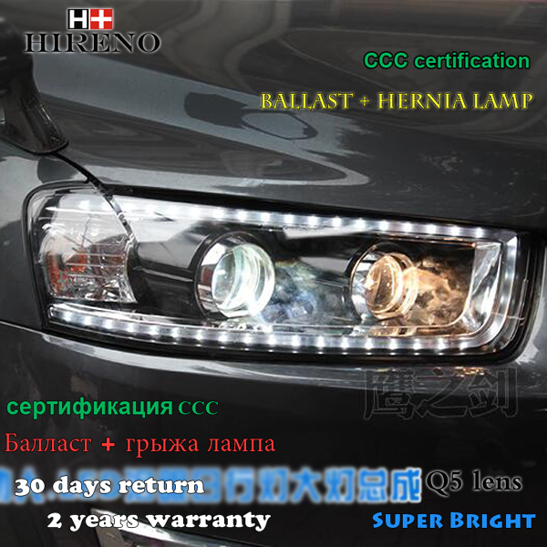 Hireno Headlamp for 2009-2014 Chevrolet Captive Headlight Assembly LED DRL Angel Lens Double Beam HID Xenon 2pcs чехол на сиденье skyway chevrolet cobalt седан ch2 2