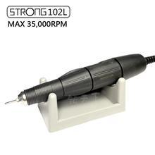 Güçlü 35,000RPM 102L 2.35 siyah saplı fırça dosya uçları tırnak cilası sanat kalem güçlü 210 204 90 serisi elektrikli tırnak matkap makinesi