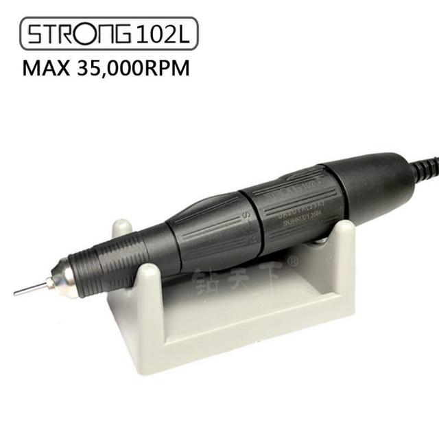 STARKE 35,000RPM 102L 2,35 schwarz griff Datei Bits Nägel polieren Kunst stift für Starke 210 204 90 serie elektrische Nagel Bohrer Maschine