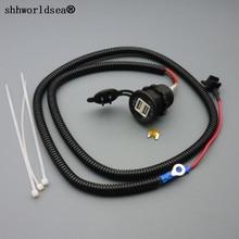 Shhworld Sea 100 набор 1 м 1,5 мм2 Адаптер зарядного устройства с двойным USB автомобильного прикуривателя 12 в расширение Micro предохранитель кран держатель