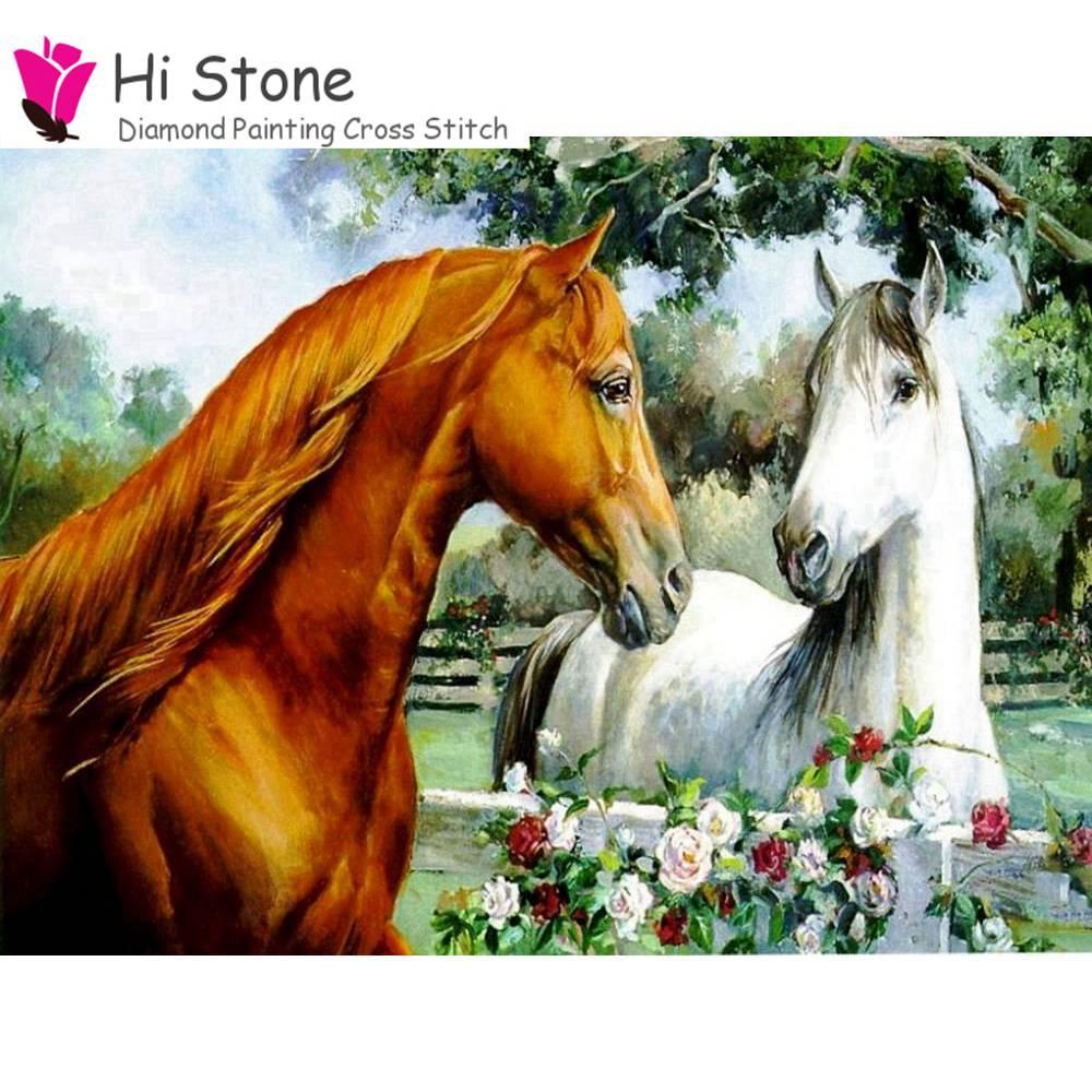 Картина Алмазная мозаика лошадник ручной вышивки крестом кристалл полный квадратный алмаз устанавливает незавершенные домашний декорати...