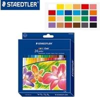 STAEDTLER 243 NC24 11mm 24 color Oil painting sticks Soft Crayon for Children Artist Art School Supplies Colored Pencils set