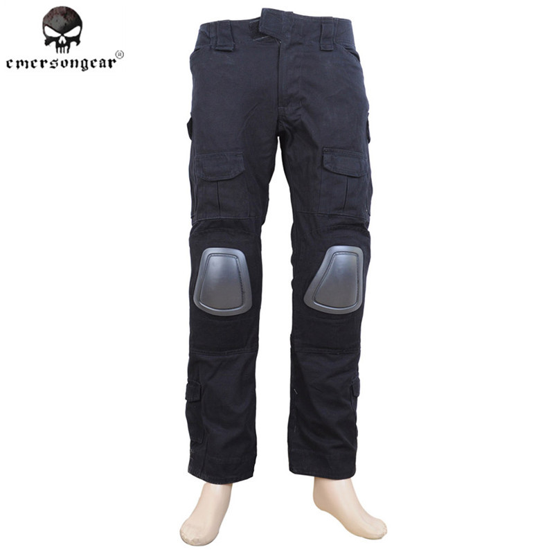 EMERSON Gen2 Tactical Pants with Knee Pads Outdoor Combat Training Airsoft G2 BDU Pants Military Hunting Clothes Black EM6988 emersongear g3 combat pants with knee pads military bdu army airsoft emerson gear paintball hunting trousers em7046 mandrake