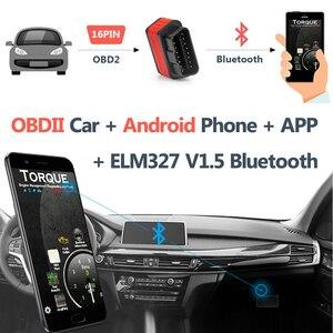 Image 3 - Original Ancel iCar2 icar 2 Bluetooth ELM327 V 1,5 OBD2 Scanner Für Android Telefon Code Reader Diagnose Automotive Scanner Tool