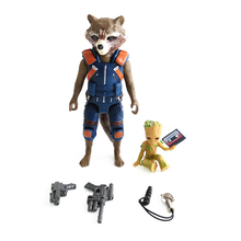 Marvel Avengers Galaxy Rocket Raccoon & Baby Tree Action Figure Model Toy Dolls Keychain Gift New In Stock & Free Shipping