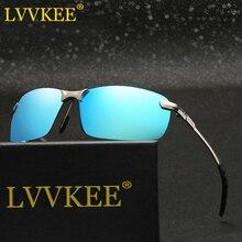 Hot 2017 LVVKEE Polarized Sunglasses Men Brand Designer Vintage Rimless Sun Glasses Male Eyewear uv400 lentes de sol hombre