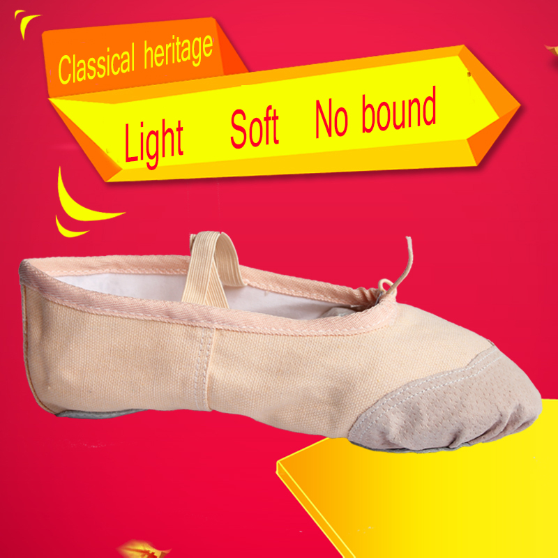 Dance Shoes Sneakers Adult Children Canvas Shoes PAWS  Ballet shoes Two Sole Practise soft Bottom Background Pofessional Soft