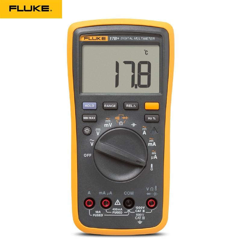 Original Fluke 15B +/17B +/18B +/12E + Plus + Auto Digital rango multímetro DMM AC/DC/diodo/R/C/probador de voltaje de corriente - 3