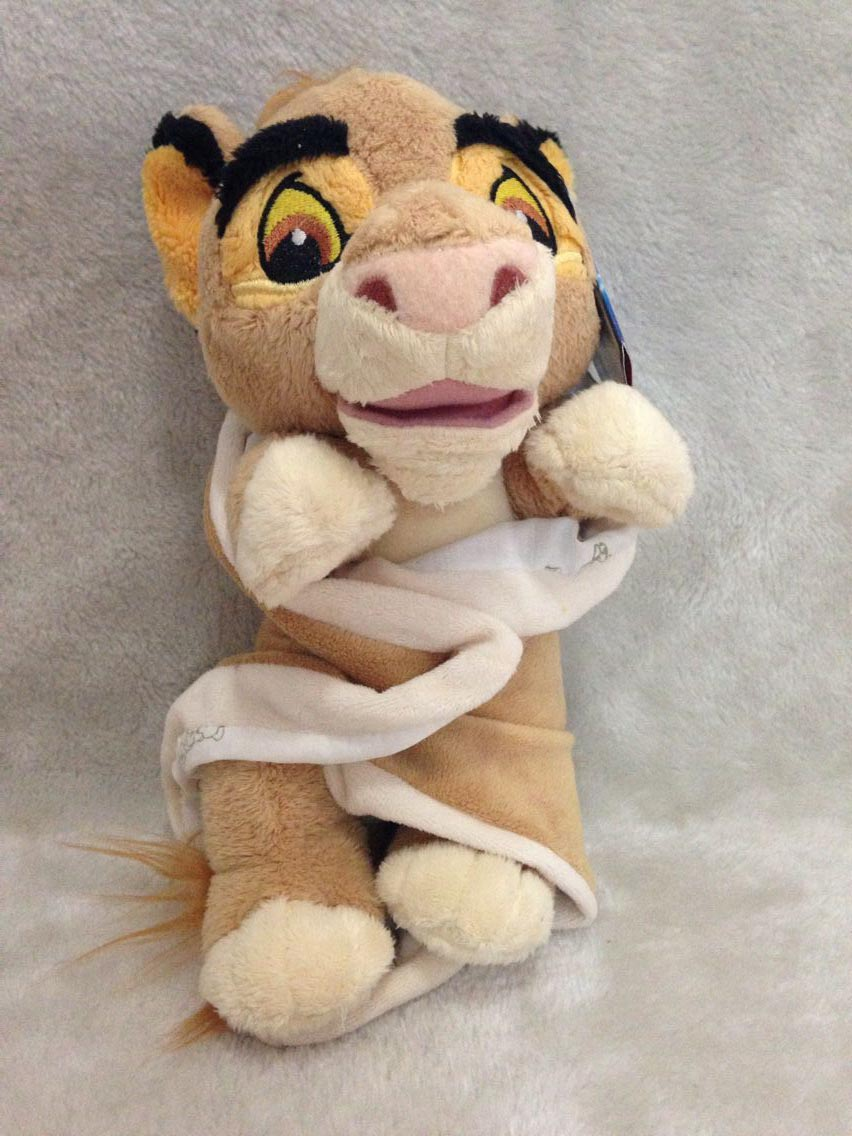 ФОТО baby the lion king simba in a blanket plush doll new 23cm plush toys