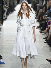 Fall 2019 Trend Coat Woman Designer Runway Zipper Slim Hooded Long Elegant Fashion Office Lady Windproof European
