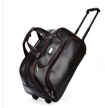 Bagaj ve Çantalar'ten Seyahat Çantaları'de Erkekler Tekerlekli Seyahat çantaları PU seyahat tekerlekli çantalar tekerlekli Yatılı bagaj çantaları erkekler için Haddeleme Çantası Adam seyahat spor'da  Grup 1